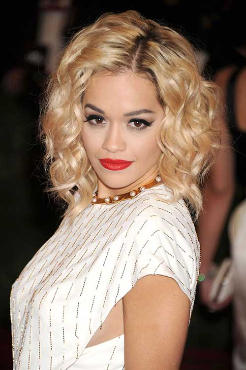 Rita Ora's Hair with Curls