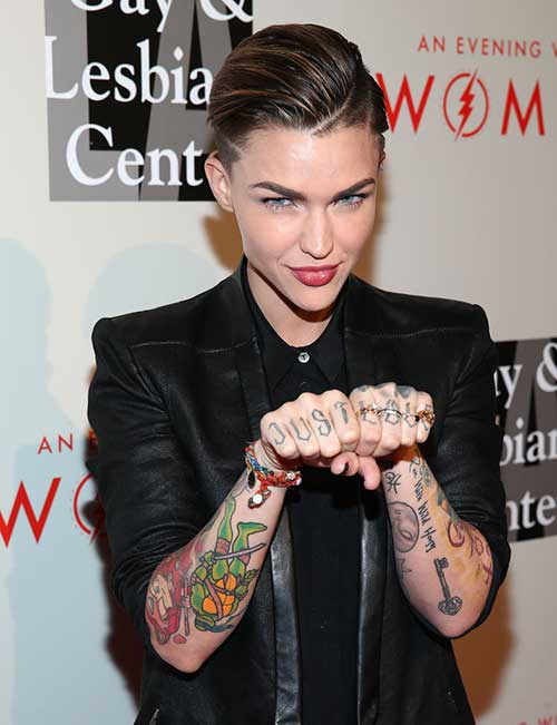 Ruby Rose Pixie Women Hair 2014-2015