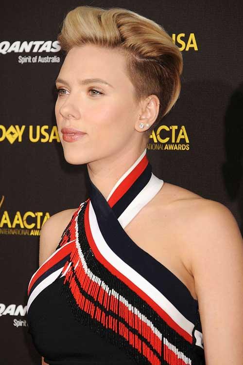 Scarlett Johansson Half Shaved Pixie Hair