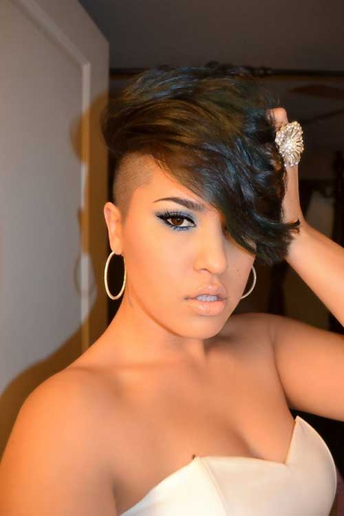 Great Shaved Side Haircut Black Females