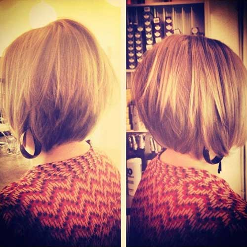 Short A-line Stacked Bob Hairstyles
