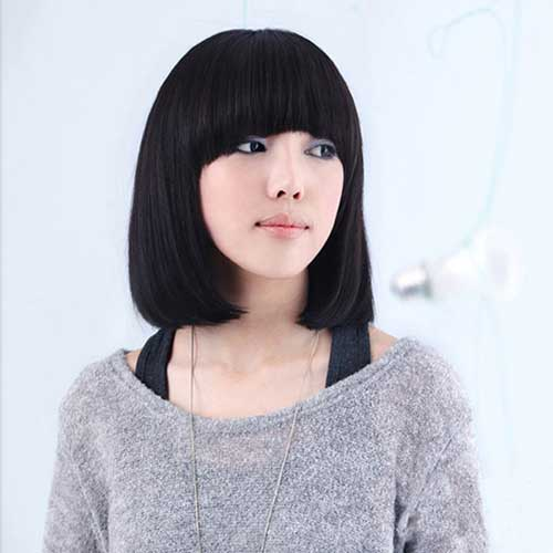 Asians Short Angled Bob Idea