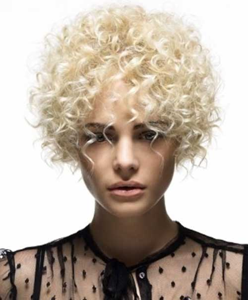 Short Curly Thin Hairstyles for Round Faces
