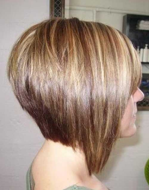 Best Short Blonde Stacked Bob Hairstyles 2015