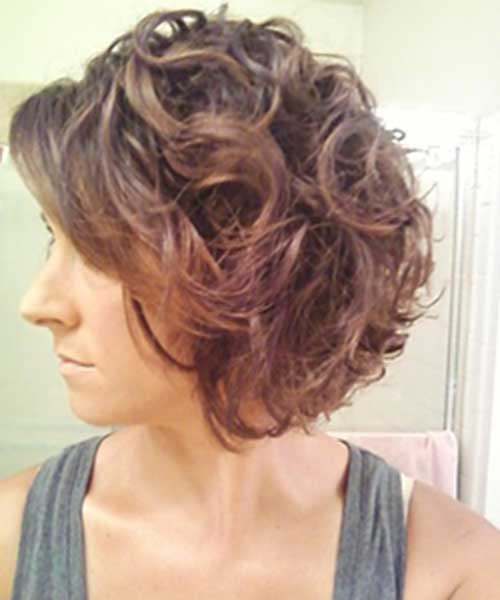 Short Curly Brown Bob