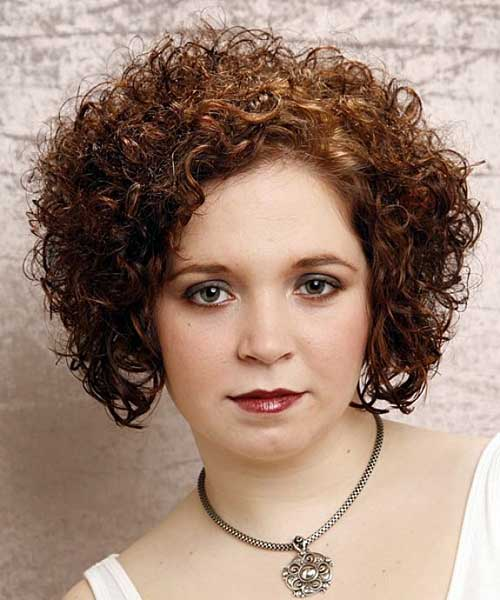 Thin Short Curly Hairstyles for Round Faces