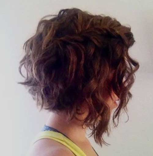 Angled Bob Short Curly Wavy Hairstyles