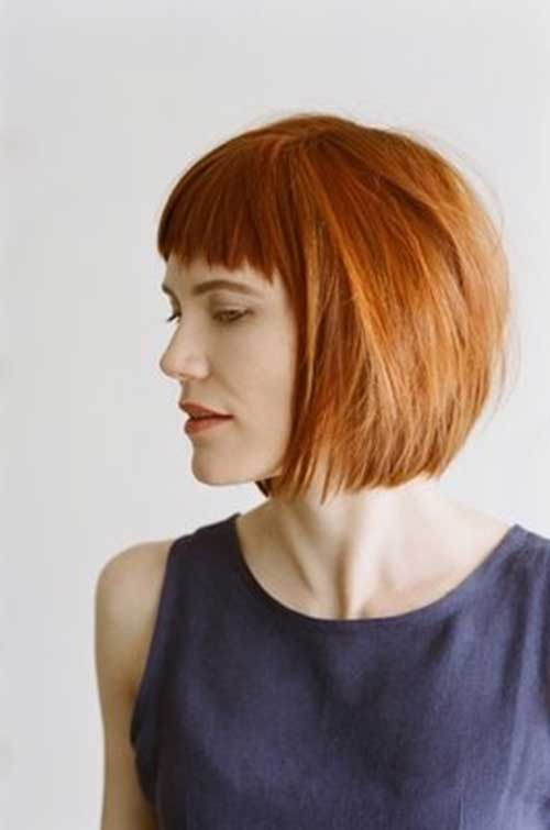 Best Short Fringe Hair With Blunt Bangs