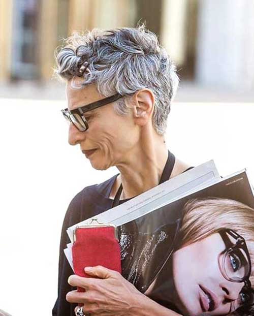 Stylish Short Grey Haircuts
