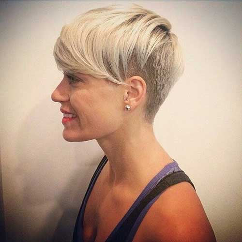 Trendy Short Hair Shaved Sides