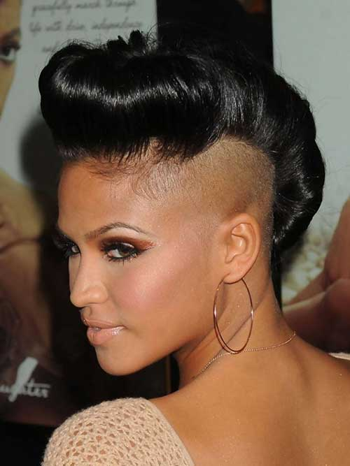 Short Mohawk Black Updo Hairstyles