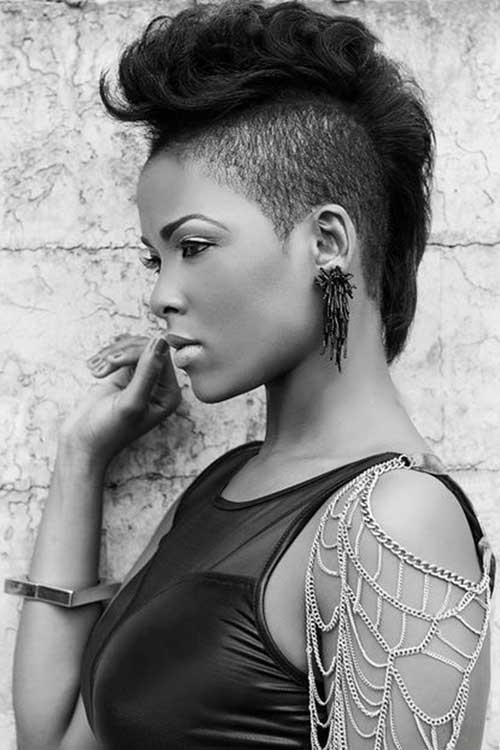 Incredible Mohawk Short Hairstyles For Black Women Short Hairstyles 2016 Hairstyles For Women Draintrainus