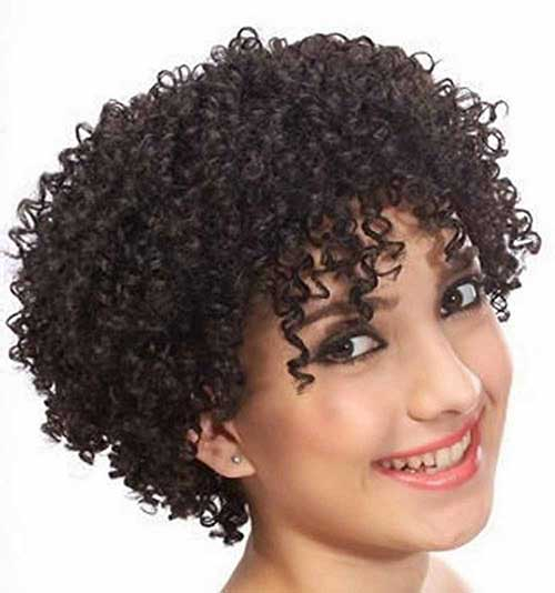 Curly Short Natural Girls Hairstyles