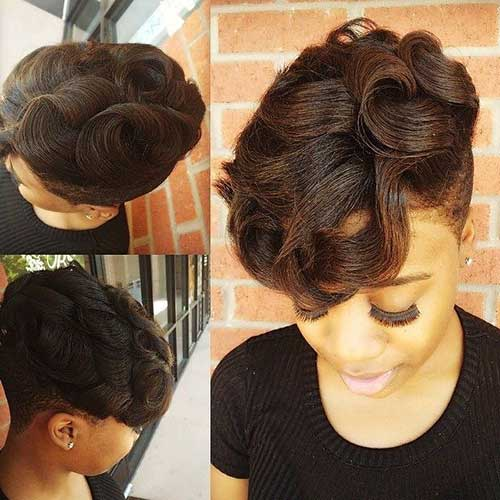 Lovely Short Natural Haircuts for Black Women