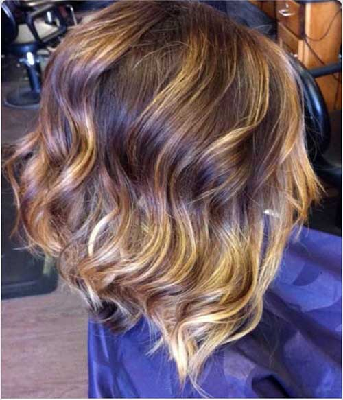Wavy Short Nice Ombre Color