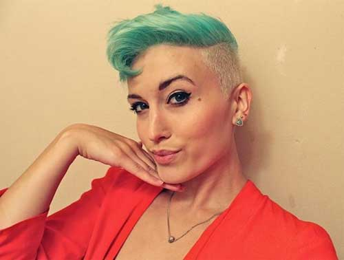 Short Pastel Pixie Two Tone Hair
