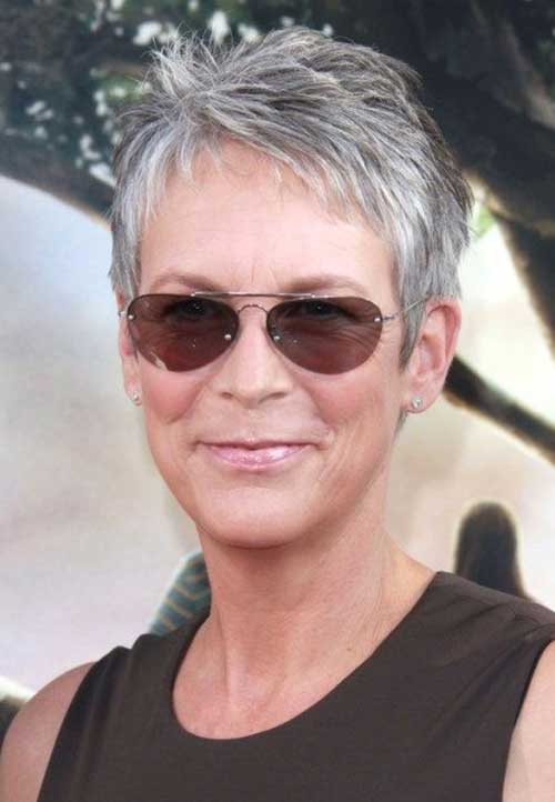 Jamie Lee Curtis Short Pixie Haircuts For Older Women
