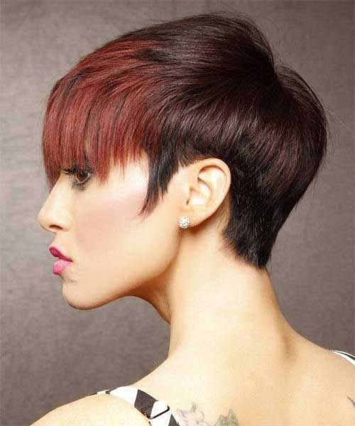 Short Dark and Red Hairstyles