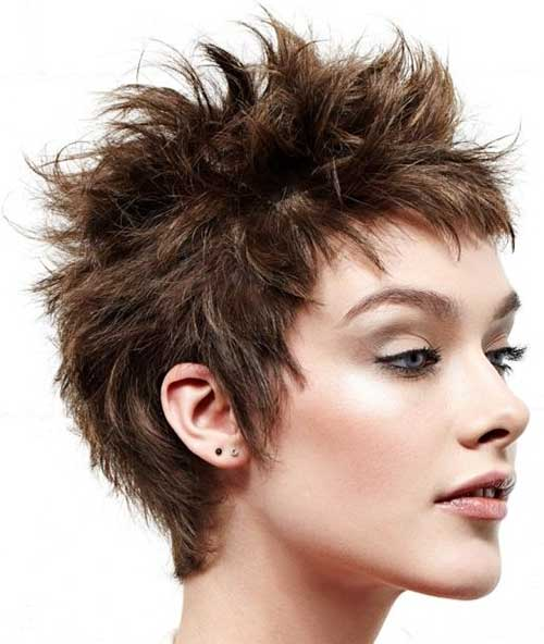 Chic Short Spiky Haircuts for Girls