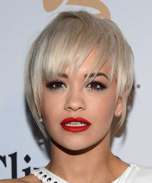 Rita Ora Straight Hairstyles