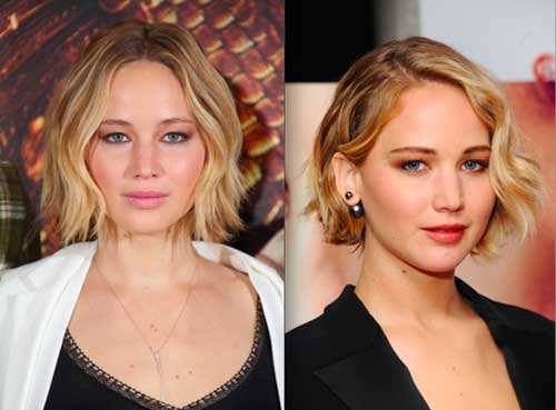 Jennifer Lawrence Short Wavy Hairstyles