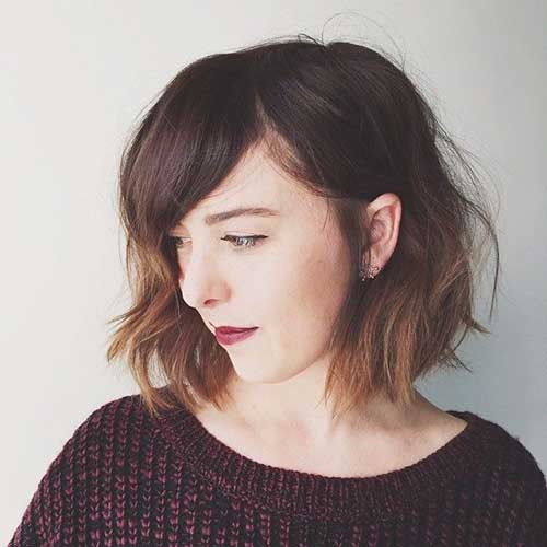 Nice Shoulder Length Bob with Bangs