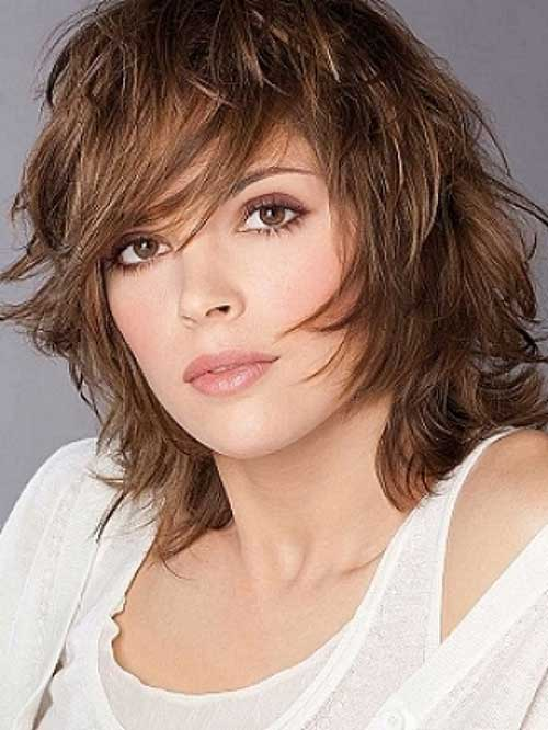 Shoulder Length Layered Haircuts with Bang