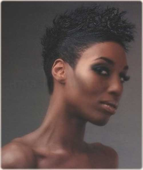 Excellent Mohawk Short Hairstyles For Black Women Short Hairstyles 2016 Hairstyles For Women Draintrainus