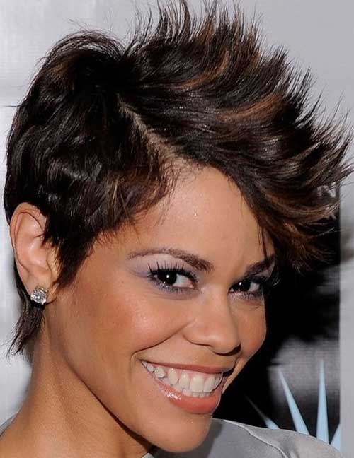 Admirable Mohawk Short Hairstyles For Black Women Short Hairstyles 2016 Hairstyles For Men Maxibearus