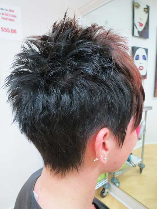 Spiky Short Haircuts Back View