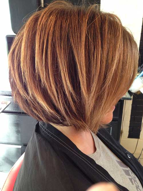 Stacked Bob Blonde Highlights Haircut Pictures