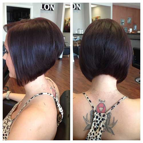Chic Stacked Diagonal Forward Haircut