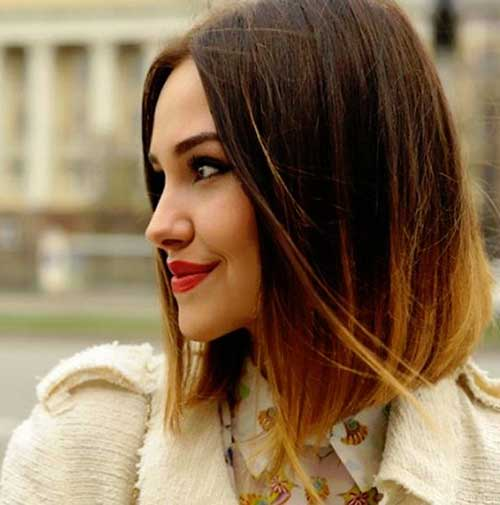 Short Hairstyles Ombre Color