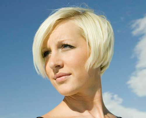 Super Short Bob Hairstyle With Blonde Color