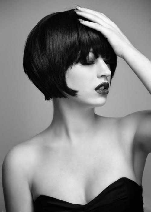 Gorgeous Thick Blunt Bob with Bangs