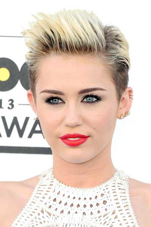 Miley Cyrus Trendy Short Hairstyles 2014