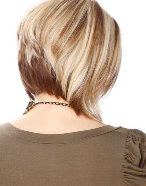 Gorgeous Trendy Two Colored Stacked Bob Haircut