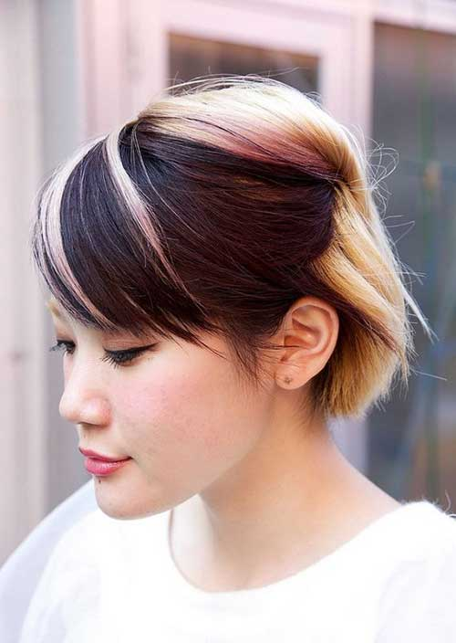 Swell Two Tone Hair Color For Short Hair Short Hairstyles 2016 2017 Short Hairstyles Gunalazisus