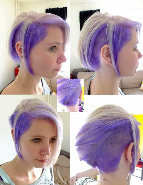 Cute Two Tone Short Hair Color