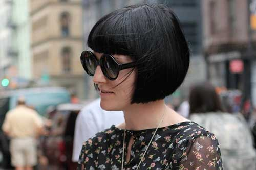 Dark Vintage Bob Haircut
