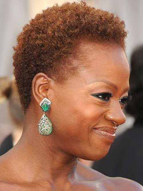 natural black short hair styles black hairstyles hairstyles 3961 | Viola Davis with Curly Hair