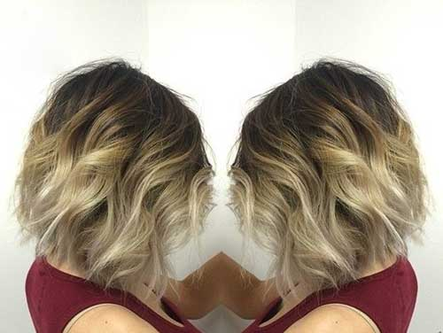 Balayage Short Wavy Curls for Short Hair