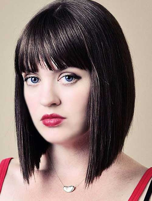Stupendous Nice Short Straight Hairstyles With Bangs Short Hairstyles 2016 Short Hairstyles Gunalazisus
