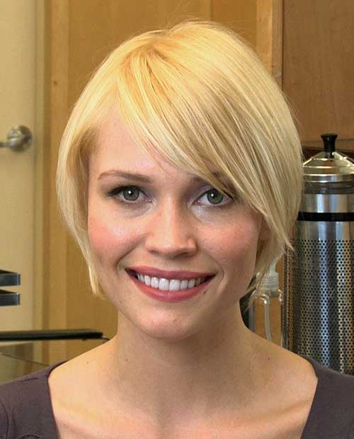 Short Bob Cuts for Round Faces