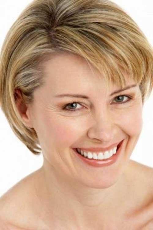 Strange Short Straight Hairstyles For Fine Hair Short Hairstyles 2016 Hairstyles For Women Draintrainus