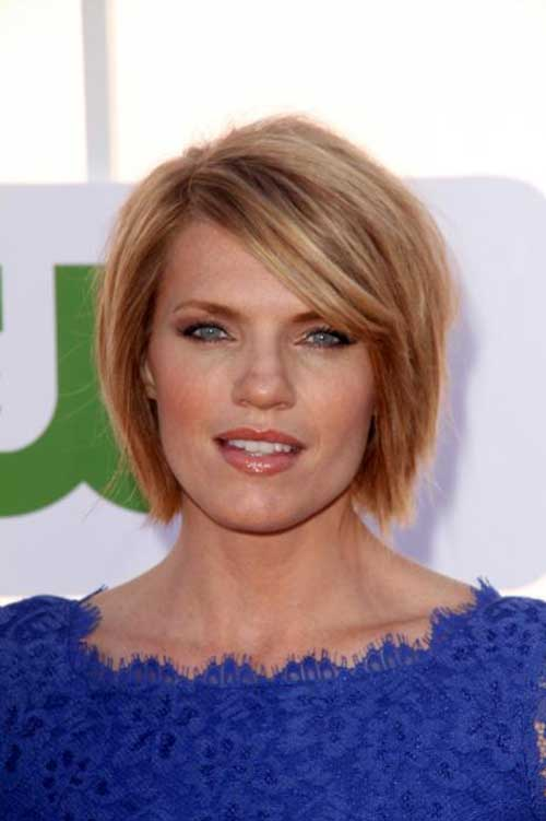 Side Swept Hairstyle For Short Straight Fine Choppy Hair