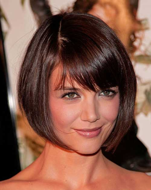 Katie Holmes Short Hair for Fine Hairstyle