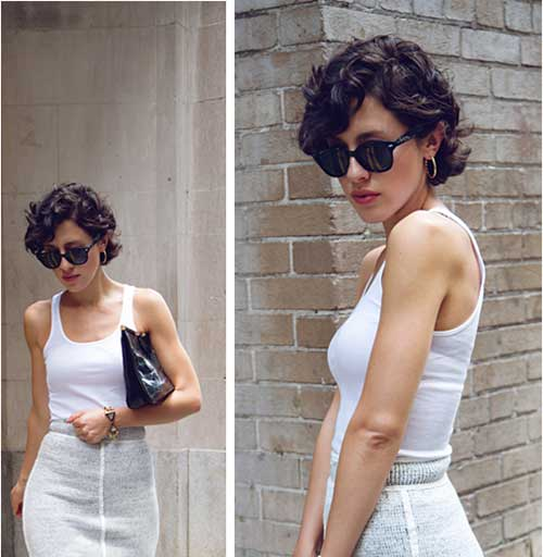Karla Deras Pixie Cut Curly Hair