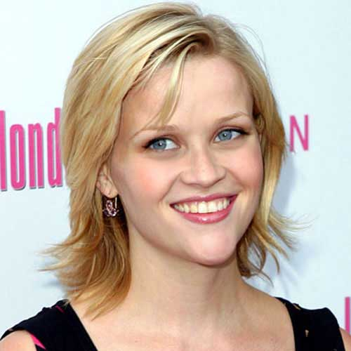 Reese Witherspoon Straight Hairstyles for Fine Hair