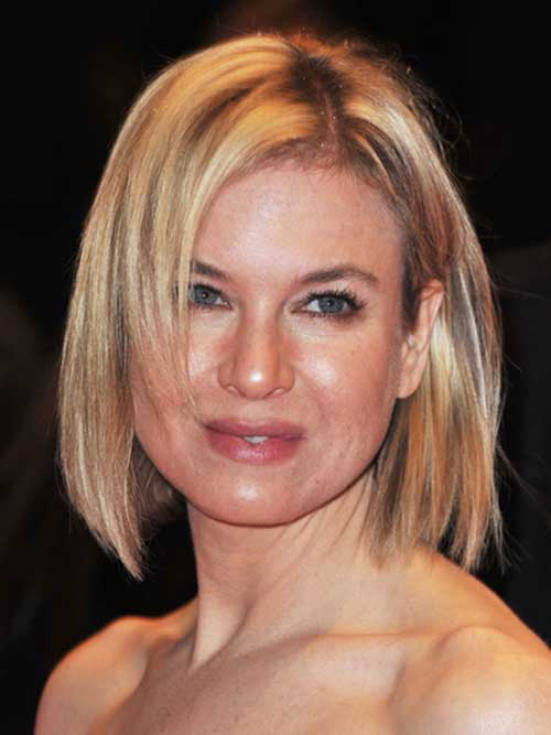 Renee Zellweger Bob Hair for Round Faces